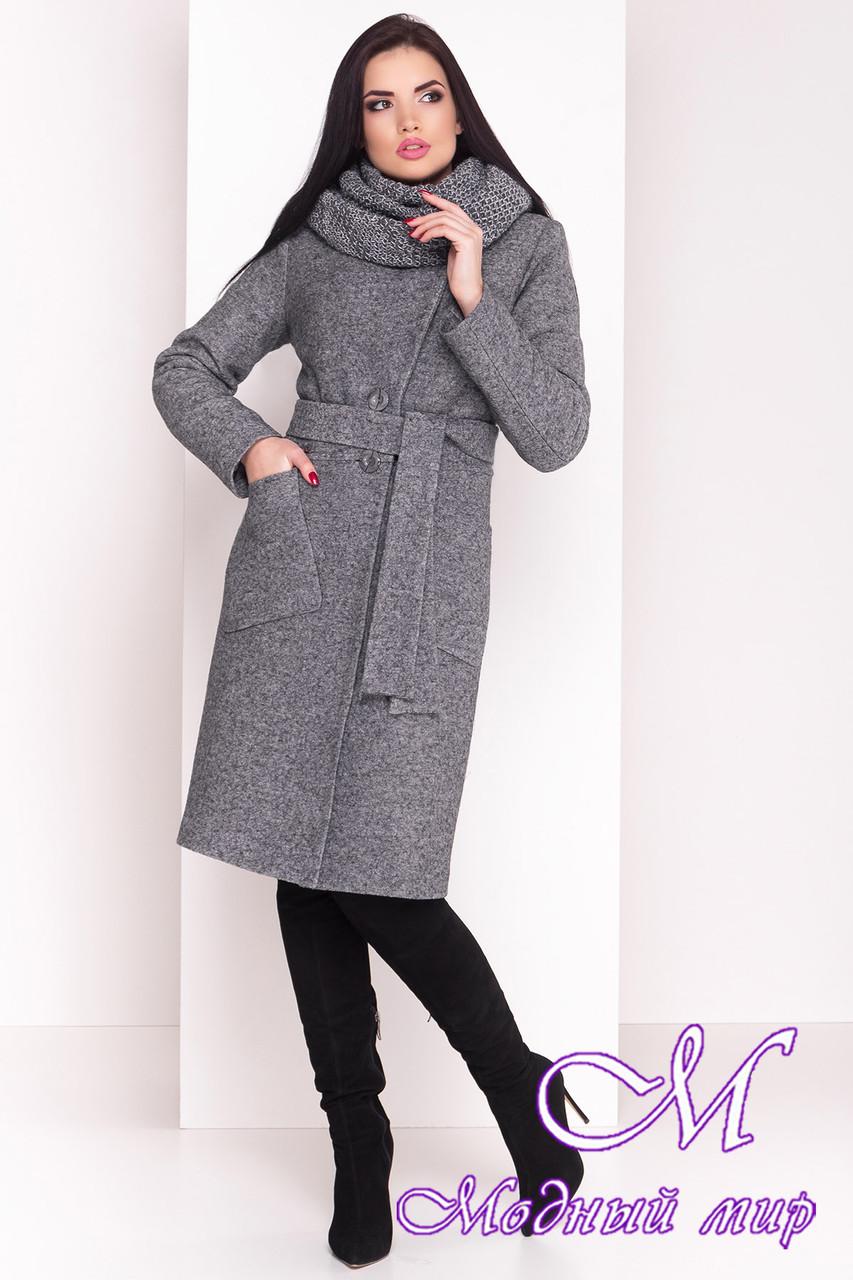 Женское длинное зимнее шерстяное пальто (р. S, М, L) арт. Габриэлла 4224 - 20836