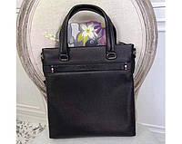 Мужская кожаная сумка в стиле Giorgio Armani black 3774-2, фото 1