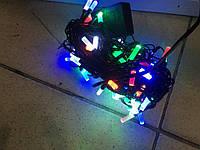 Гирлянда нить светодиодная 100 LED, 5 метров, разноцветная, фото 1