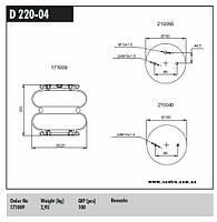Пневмоподушка бублик 2B2203, Scania 1387283, 113018 Connect