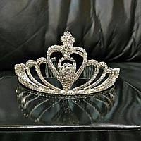Диадема со стразами, высокая тиара, корона