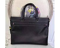 Мужская кожаная сумка в стиле Giorgio Armani black 3774-3, фото 1