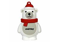 Флешка, Подарочный Smartbuy USB 8Gb Белый медведь, USB накопитель