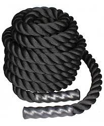 Канат для кроссфита 9м black LiveUp LS3676-9