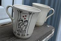 """Милая чашка """"Влюблённые на качели"""""""