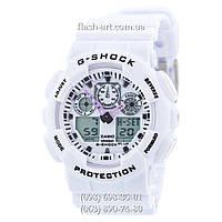 Мужские наручные часы Casio G-Shock GA-100 White