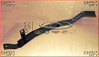 Направляющая переднего бампера, левая, металл, Chery Elara [2.0], A21-2803631, Original parts