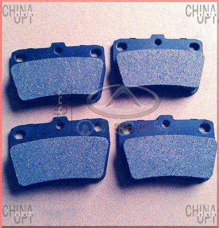 Колодки тормозные задние, дисковые, Chery Tiggo [2.4, до 2010г.,AT], T11-BJ3501080, Toko