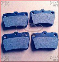 Колодки тормозные задние, дисковые, Chery Tiggo [2.4, до 2010г.,AT], Toko