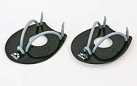 Лопатки для плавания гребные ARENA ELITE (черный)