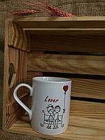 """Чашка офиска Скориков """"Скамейка для влюбленых"""""""