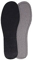 Летние стельки «Кожкартон+Кожа (черная)», р-р 45