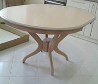 Стол кухонный круглый Доминика Dom, крем