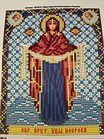 Набор для вышивки бисером икона Божия Матерь Покрова VIA 5010