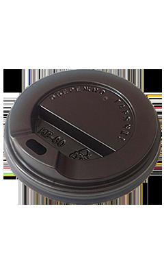 Крышка для стакана 180 мл, черная, 50 шт/рук., 2000 шт/ящ.