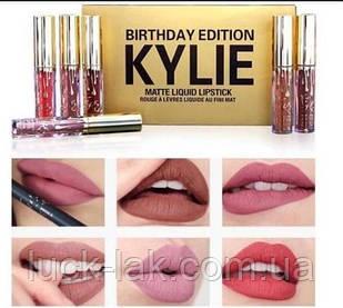 Набір рідких матових помад Kylie Birthday Edition 6 шт, 3.25 мл
