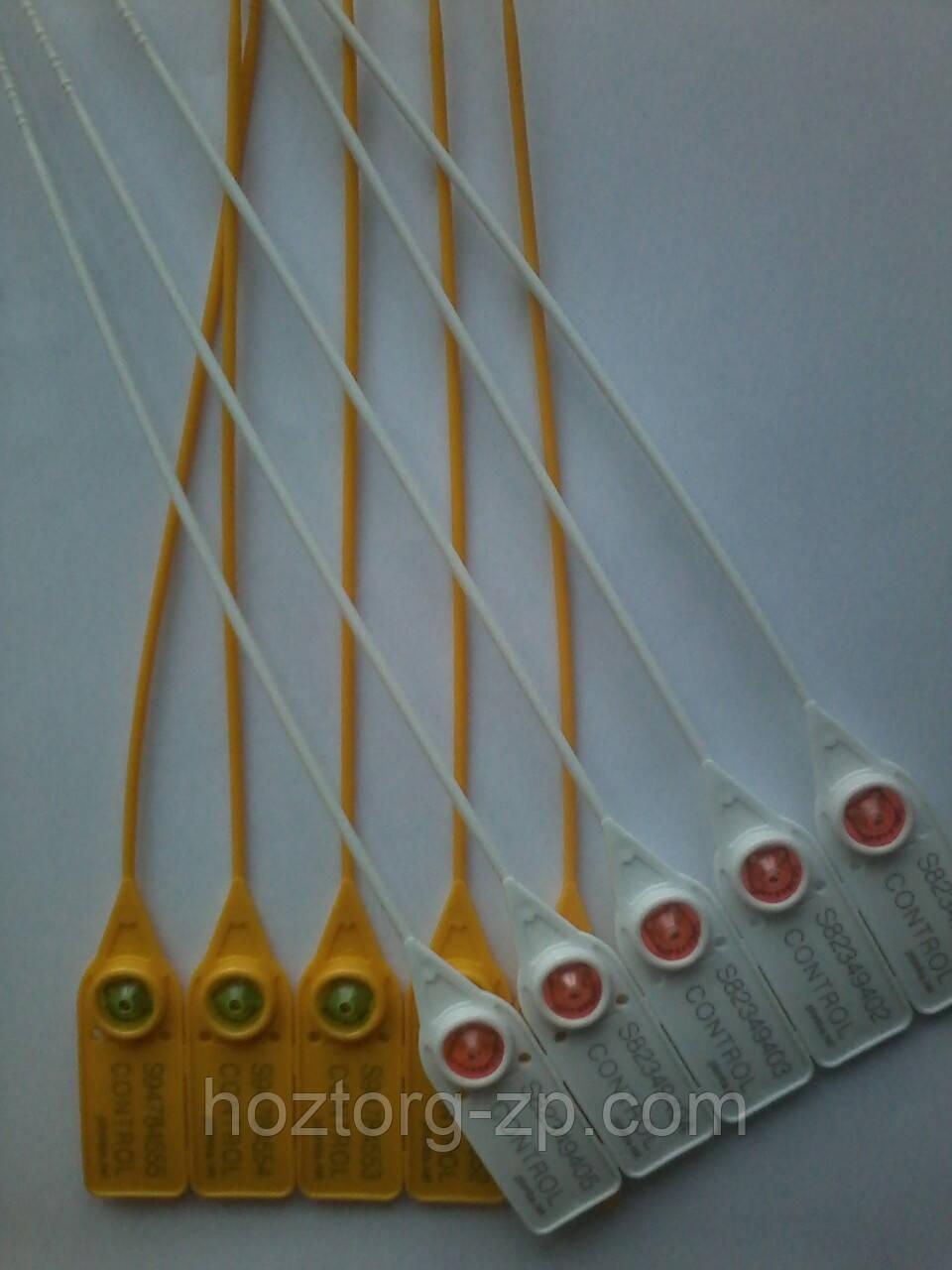 Пломба затяжка пластиковая номерная 22 см