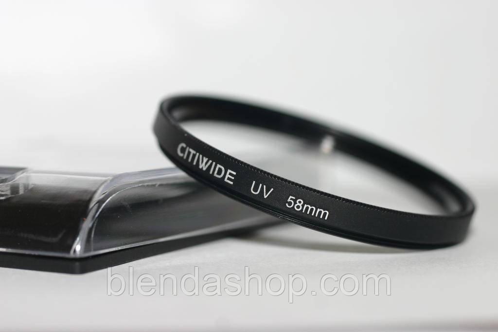 Ультрафиолетовый защитный UV cветофильтр CITIWIDE 58 мм