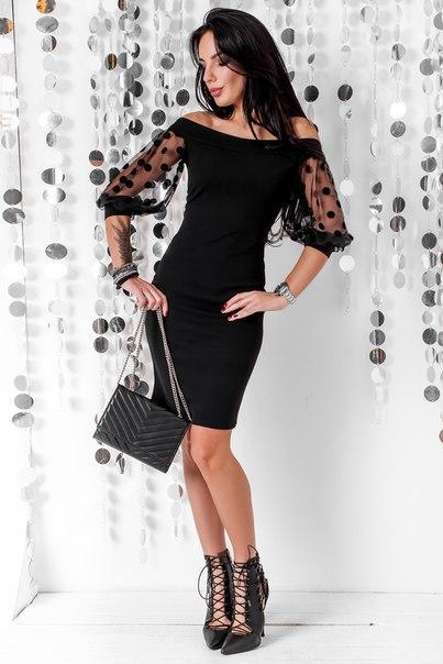 Приталенное женское платье