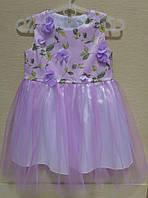 Нарядное детское платье в цветах