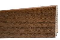 Плинтус напольный из дерева шпонированный 60х18х2400мм., Дуб браун, фото 1