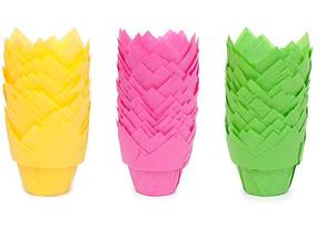 Паперові форми Лотос для кексів, маффінів, капкейків Ecopack, фото 2