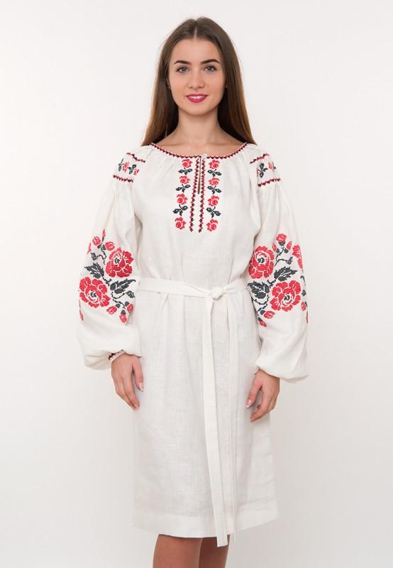 d2a870d5dcd421 Дизайнерська вишита сукня (плаття) на льоні - Мир одежды вместе с Biserova  в Хмельницком