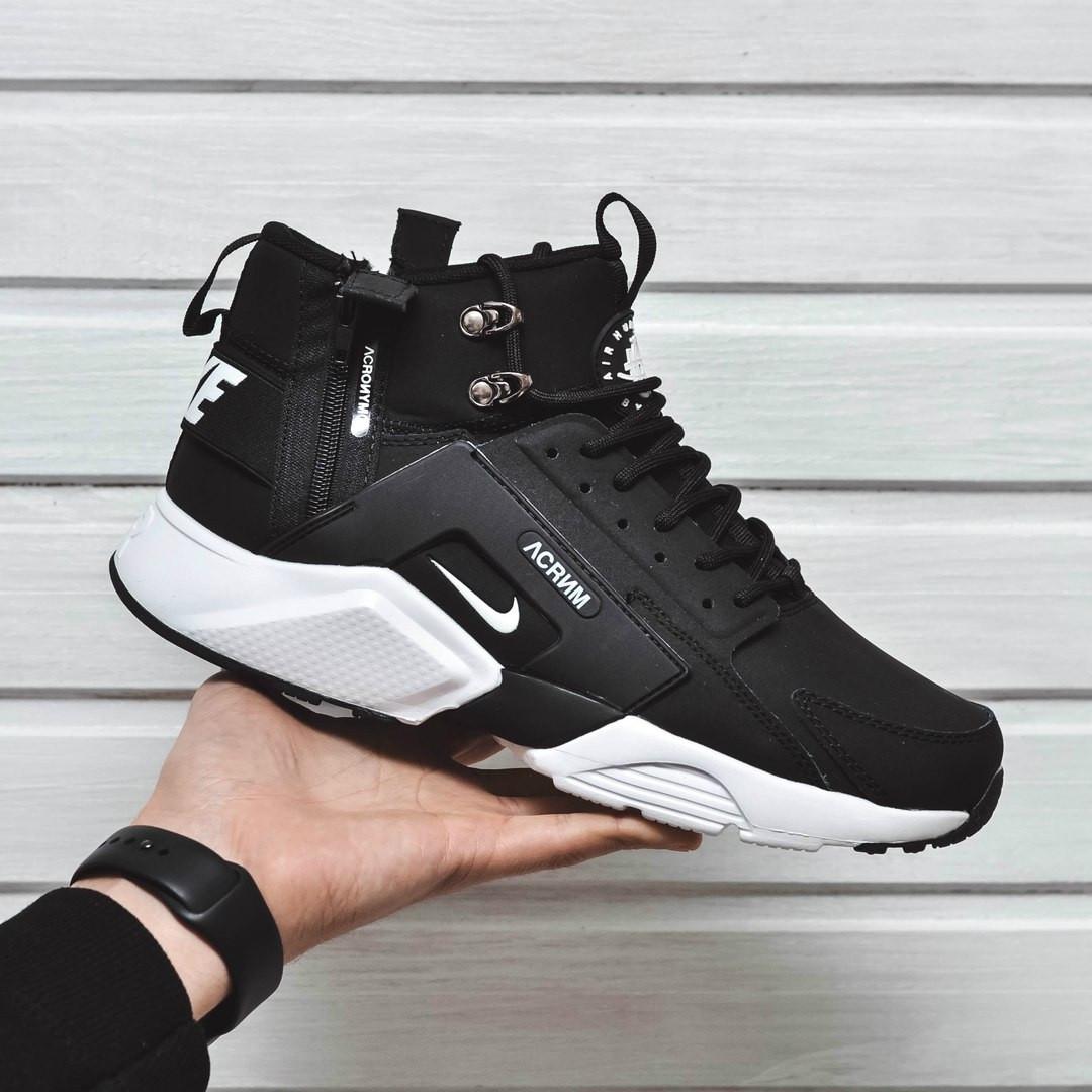 promo code f67a0 8f370 Мужские кроссовки Nike Huarache Acronym Concept черно-белый цвет (Реплика  AAA+)
