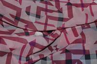 Ткань Шифон геометрический рисунок, фото 1