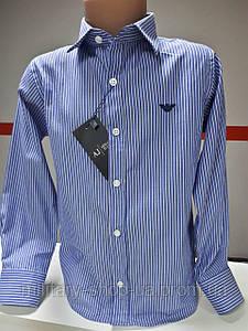 Рубашка для мальчишек в полоску. Бренд.
