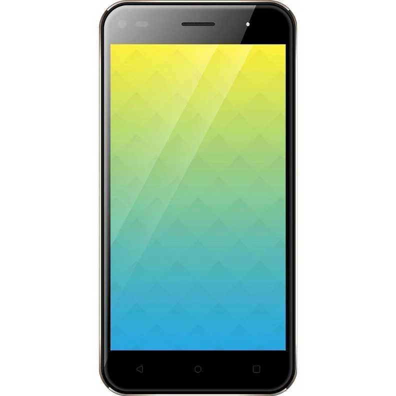 Смартфон на 2 сим карты 5 дюймов 4 ядра 1/16Gb Nomi i5030 EVO X золотой