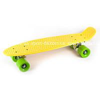 Penny Classic желтый с зелеными колесами