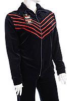 Велюровый женский спортивный костюм K115 Красный, 2XL