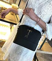 Маленькая сумка черная Melani через плече-на плече 2017