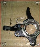 Поворотный кулак левый, без ABS, Geely CK1F [с 2011г.], 3501101180, Aftermarket
