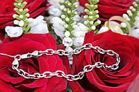 Браслет серебряный 925 мужской Якорное плетение