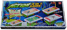 """Настольная игра Action Game 4 В 1 """"Хоккей,голь,баскетбол, боулинг"""" 55,2*26*5,4 см."""