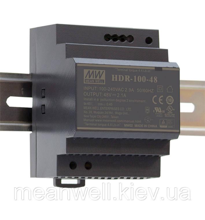 HDR-100-15 Блок питания на Din-рейку Mean Well  92вт, 15в, 6.13А