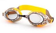 Стартовые очки для плавания aquastar 306 корич.
