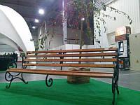 Кованая лавка садовая Ольга 2м с укрепляющей подвеской