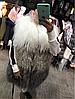 Жилет из ламы длина 70 см