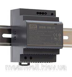 HDR-100-48N Блок питания на Din-рейку Mean Well 100,8вт, 48в, 2,1А