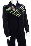 Велюровый женский спортивный костюм K115 Зеленый, 4XL