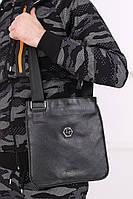 Барсетка Philipp Plein | Металлический логотип на кожанойвставке