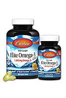 Омега-3, Вкус Лимона, Gems, Carlson, 90+30 желатиновых капсул