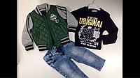 Костюм тройка на мальчика (куртка , штаны, кофта)