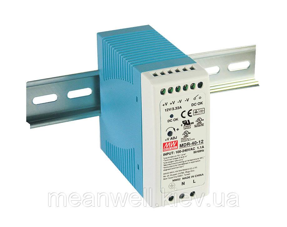 MDR-40-48 Блок питания на Din-рейку Mean Well 39.8 вт, 48в, 0,83А