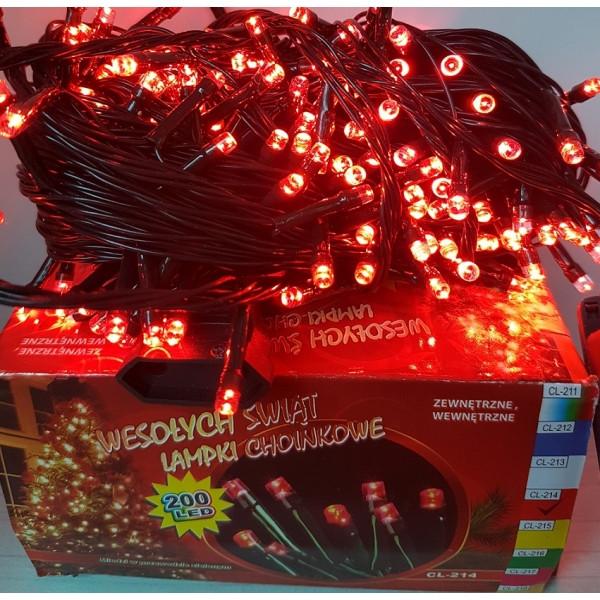 Гирлянда на 200 LED красная