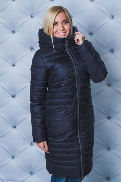 Пальто зимнее т-синее Размеры от 42 до 58