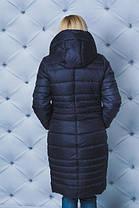 Пальто зимнее т-синее Размеры от 42 до 58, фото 3